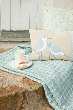 seaforth designs, seabird cushion, photographing cushions, product shot tips…