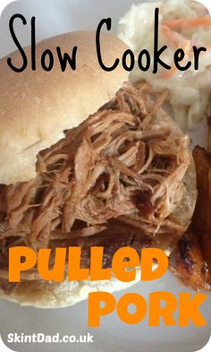 We've been making this delicious slow cooker pulled pork recipe for some time, both as a tasty dinner and using the left overs a quick and easy lunch. Pulled Pork Recipe Slow Cooker, Slow Cooked Pulled Pork, Pulled Pork Recipes, Slow Cooked Meals, Healthy Slow Cooker, Slow Cooker Pork, Slow Cooker Recipes, Crockpot Recipes, Cooking Recipes