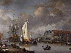 """Jan Claesz Rietschoof, """"View of Oostereiland"""", 1652-1719"""