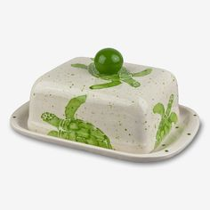 E. I. Designs: Double Butter Dish: Green Turtles Design Inspirations