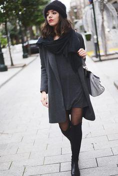 Dress and overknee socks