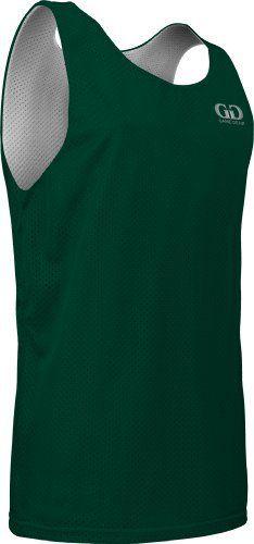 2207bfee6b303 Men s Tank Top Athletic Nylon Mesh Sports Jersey-Uniform is Reversible to  White (Large
