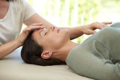 A beautiful Craniosacral hold to connect head and heart. www.thestillnespractice.com