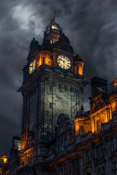 Clock tower - Edinburgh - Scotland