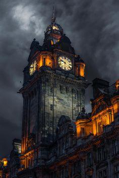 Clock tower - Edinburgh - Scotland