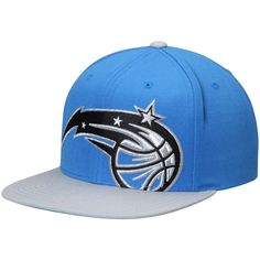 cheap for discount 054a9 7b694 Men s Orlando Magic Mitchell   Ness Light Blue Gray Cropped XL Logo  Adjustable Snapback Hat, Your Price   31.99