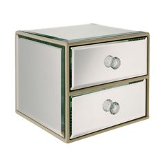 Store your treasured possessions in this pretty mirrored jewellery box.  Priced at £20.