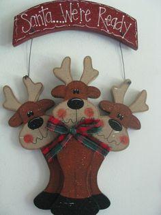 sign wall decor door decoration reindeer Christmas. Santa Reindeer Christmas, Christmas Time, Christmas Ornaments, Christmas Stuff, Wall Signs, Antlers, Hanger, Santa, Wall Decor