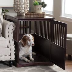 Wooden Pet Crate End Table | Overstock.com Shopping   The Best Deals On  Crates | Dog | Pinterest | Crates, Dog And Dog Crate