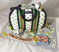 GUCCI bag cake!  www.creativecakesbykeekee.com