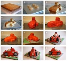 Roary the Racing Car Cake Tutorial by 5 Currant Buns - The Cake Directory - Tutorials