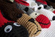 Fun, Cozy Crochet Animal Slippers