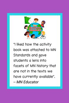 Raving fans of OMC activity book, available for purchase at www.ourminnesotacommunity.com/buy-the-book/ Learning Activities, Minnesota, The Book, Texts, Fans, Student, Community, Education, History