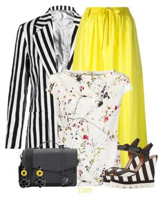 Yellow Midi by talvadh on Polyvore featuring polyvore fashion style Topshop Unique Joseph Dolce&Gabbana Botkier clothing