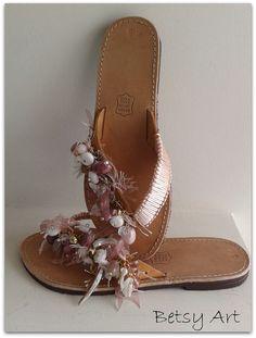 Flip flopswomen  sandalsGreek leather sandals by betsyarts on Etsy, €50.00