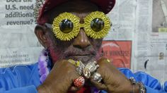 """Lee """"Scratch"""" Perry photographed in LA, CA by Roger Steffens, 2013."""