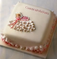 Personalised Little Baby Christening Cake Maker In London cakepins.com