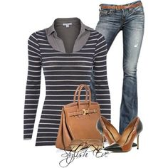 Stylish Eve Fall 2013 Outfits: Stripes are the New Sexy  love the shoes!