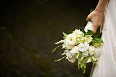 White flower bouquet 3 by Muriel Silva Photography on Creative Market