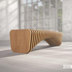 Plywood bench B1