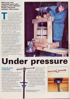 Cider Press Plans - Woodworking Plans
