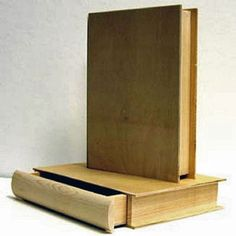 Wooden book box with pull out drawer