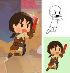 dalindrarpgclose #jeuvideo #game #character #charadesign #vecto #illustrator #chibi #straps