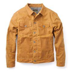 Flannel-Lined Waxed Trucker Jacket | Huckberry