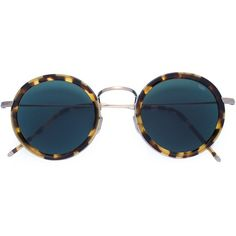 Eyevan7285 round frame sunglasses (2.640 BRL) ❤ liked on Polyvore featuring accessories, eyewear, sunglasses, glasses, brillen, brown, brown glasses, round frame glasses, brown round sunglasses and acetate sunglasses