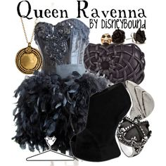Queen Ravenna, created by lalakay on Polyvore disney