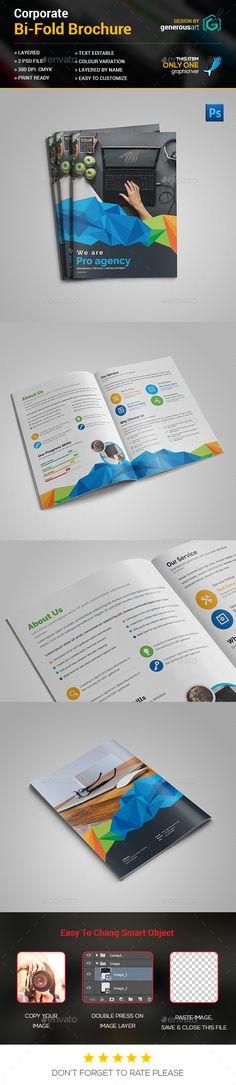 FREE Bi-Fold Brochure Template, Brochure Layout, free Vector Bi - free bi fold brochure template word
