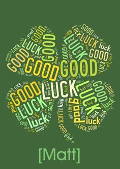 Personalised good luck words card - Get all your personalised cards and gifts from HelloTurtle
