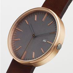 203 Series (rose gold) watch by Uniform Wares. Available at Dezeen Watch Store: www.dezeenwatchstore.com #watches