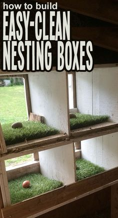 How to create a safe, comfortable, and easy to clean nesting box in your chicken… More