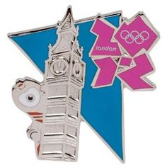 Price: $7.95 - Summer Olympics London 2012 England Olympic Games Wenlock Mascot with Big Ben Pin - TO ORDER, CLICK ON PHOTO