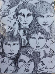 Las mujeres somos muchas mujeres... Somos la madre, la hija, la hermana, la sobrina, la nieta, la maestra, la alumna, la primera amiga, la mejor amiga, la Eva, la Liliht, la María, la puta, la angelical, la virgen... La mala y la buena... Somos muchas en una sola, no estamos solas pues...