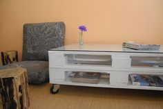 Mesa palete pintada