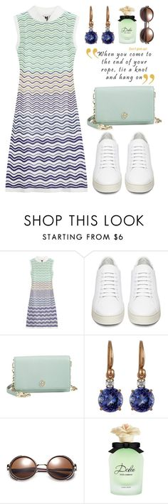 """""""White Sneakers"""" by boxthoughts ❤ liked on Polyvore featuring M Missoni, Off-White, Tory Burch, Irene Neuwirth, Dolce&Gabbana, women's clothing, women, female, woman and misses"""
