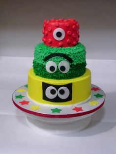 Yo Gabba Gabba - cake.  It is an 8/6/4 rds with buttercream and fondant accents.