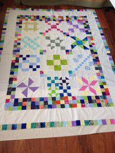 Scrappy quilt (Nicole)