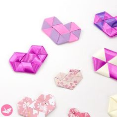 Origami Woven Paper Hearts Tutorial