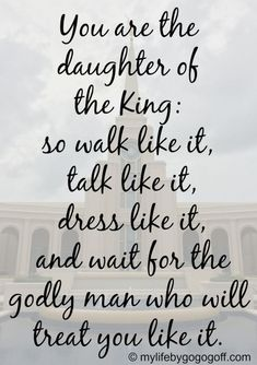 Soulmate and Love Quotes : QUOTATION – Image : Quotes Of the day – Description Soulmate And Love Quotes: Soulmate Quotes : QUOTATION Image : As the quote says Description Sharing is Power – Don't forget to share this quote ! Daughters Of The King, Daughter Of God, Family Quotes, Girl Quotes, Best Friend Soul Mate, Bible Verses Quotes, Lds Quotes On Faith, Marriage Bible Quotes, Scriptures