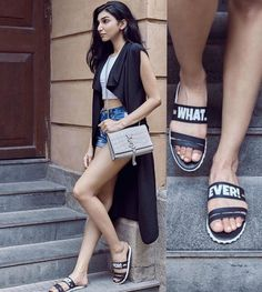 Flats - Presa Flats - Bag - YSL - Shorts - Crop top - Fashion Blogger - Juhi Godambe