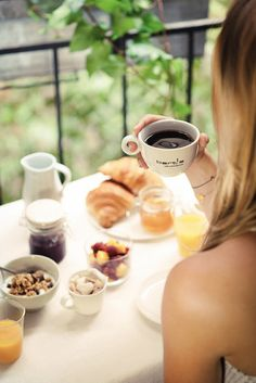 """""""All happiness begins with a leisurely breakfast."""""""