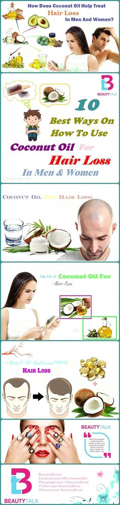 10 best ways on how to use coconut oil for hair loss treatment in men women #ArganOilForHairLoss