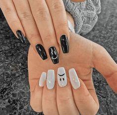 Acrylic Nails Coffin Short, Simple Acrylic Nails, Best Acrylic Nails, Acrylic Nail Designs, Simple Nails, Summer Acrylic Nails, Pastel Nails, Coffin Nails, Edgy Nails
