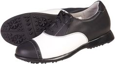 In the market for new golf shoes? Lori's Golf Shoppe carries a selection of cool stylish golf shoes for women. Check this one out -->  SPECIAL Sandbaggers Ladies Golf Shoes - AUDREY Black/White
