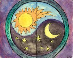 illustration / yin yang / sun & moon
