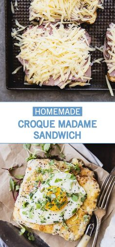 Find all of your favorite flavors in this recipe for Homemade Croque Madame Sandwiches. We're talking sliced deli ham, Gruyère cheese, and a sunny side-up egg! Finished with a béchamel sauce—made of butter, milk, and dijon mustard—this open-faced dish will become your go-to for breakfast, lunch, and everything in between! Don't forget to find all the essential ingredients you need at Kroger.