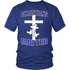 "CHRISTIANS MATTER! Be a PROUD CHRISTIAN, get yours today & wear PROUDLY! ""Free Shipping"" this week, SHARE & RT"